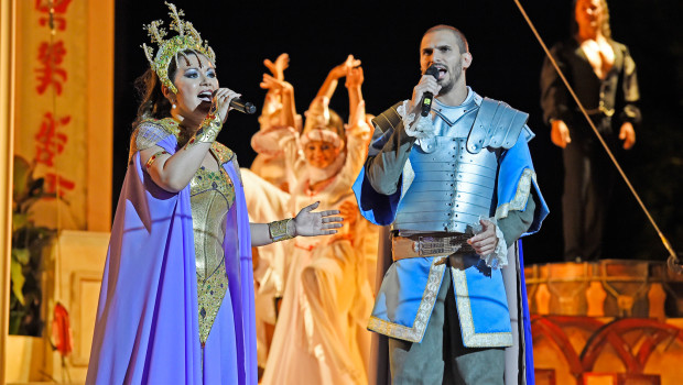 Europa-Park Imperio-Sommershow Live-Gesang