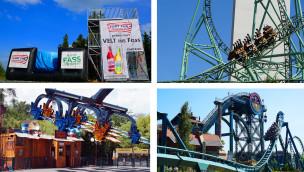 Vier Freizeitparks in Europa präsentieren im Juli 2015 neue Attraktionen