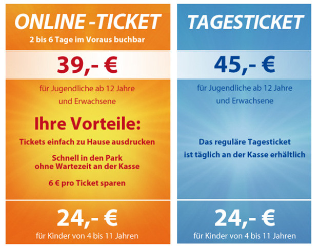 Phantasialand Online-Ticket 2015