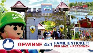 Gewinne 4×1 Familienkarte für den PLAYMOBIL-FunPark beim Freikarten-Freitag KW28/2015