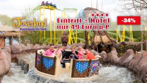 Toverland Angebot 2016 – 4* Hotel-Übernachtung und Eintritt ab nur 49 Euro p.P.