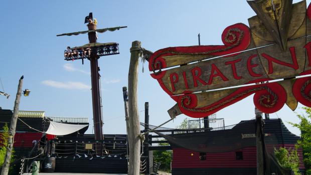 Belantis Free-Fall-Tower in der Piratenbucht