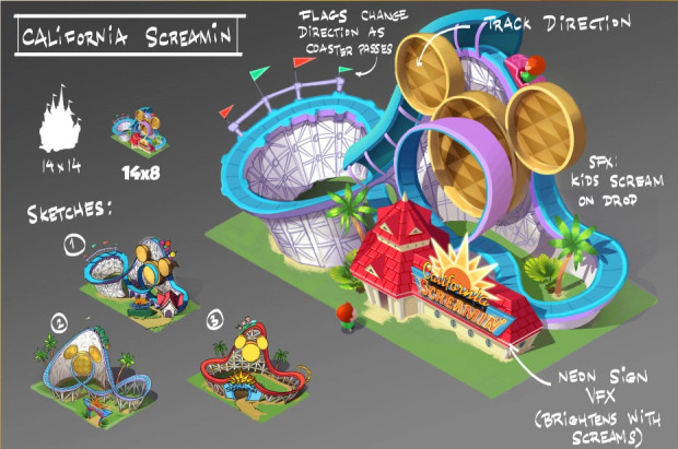 Disney Magic Kingdoms Konzepgrafik