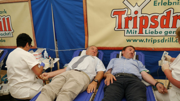 DRK Blutspendewoche 2015 Tripsdrill Start