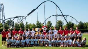 40 Teilnehmerinnen trainierten beim 4. Ehrmann Mädchen-Fußball-Camp des Europa-Park