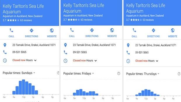 Google Wartezeiten-Anzeige
