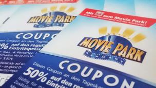 Movie Park-Coupon 2015 von kik: 50 Prozent Rabatt beim Eintritt sichern