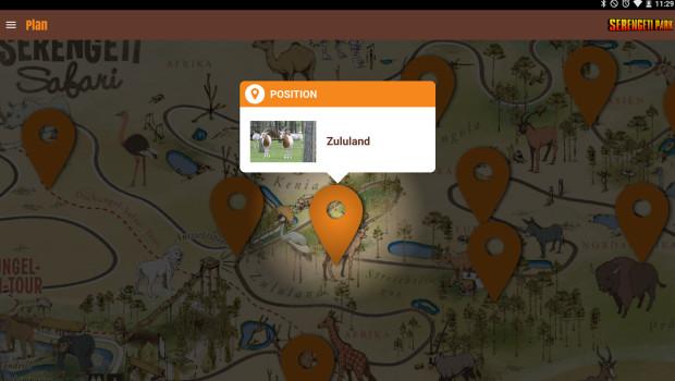 Serengeti-Park App Parkplan