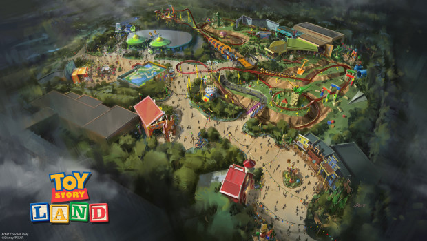 Toy Story Land - Disney World Resort - Konzeptgrafik