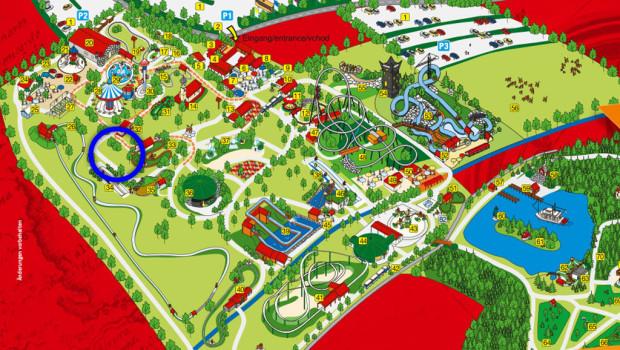 Bayern Park Neuheit 2016 - Markierung auf dem Parkplan