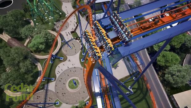 Cedar Point Valravn First Drop Render