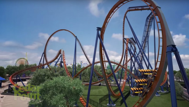 Cedar Point Valravn Inversion Render