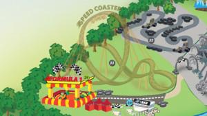 EnergyLandia Parkplan mit Formel 1-Achterbahn