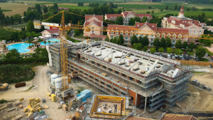 Gardaland Hotel 2016 Baustelle