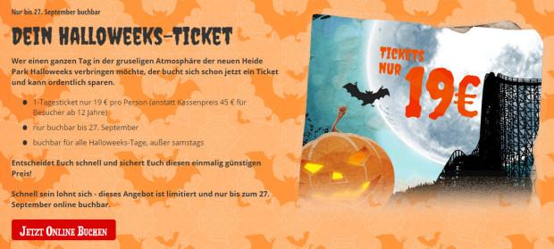 Heide Park Halloweeks 2015 - günstige Tickets