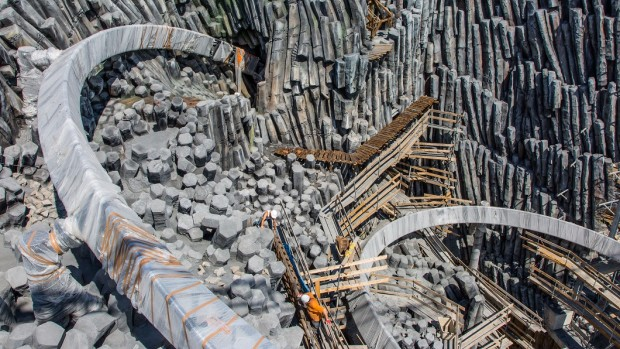 Phantasialand Taron-Baustelle September 2015 - 12