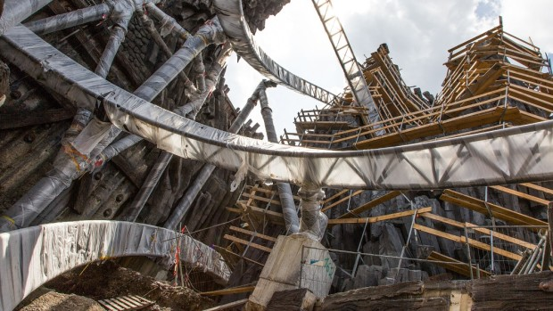 Phantasialand Taron-Baustelle September 2015 - 7