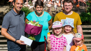 Tierpark Hellabrunn - 1-millionster Besucher 2015