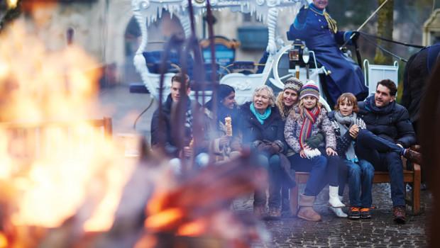 Efteling im Winter mit Lagerfeuer