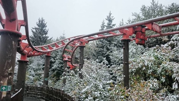 FORT FUN Abenteuerland - Schnee im Oktober 2015