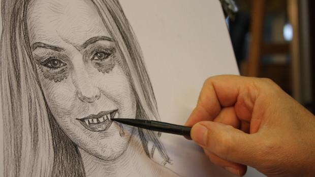 Halloweeks-Portrait der Miss Soltau - Schritt 2