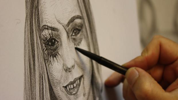 Halloweeks-Portrait der Miss Soltau - Schritt 4