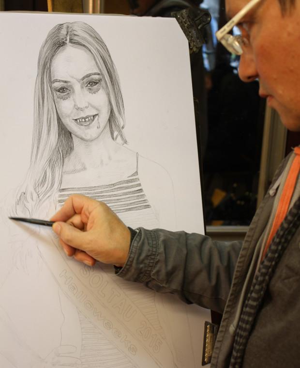 Halloweeks-Portrait der Miss Soltau - Schritt 1