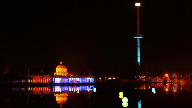 Heide Park Halloweeks-Beleuchtung