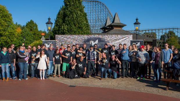 Heide Park Weltschreitag 2015 Thrillseeker-Gruppenfoto