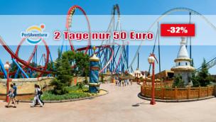 PortAventura Park günstig besuchen: Tickets für Freizeitpark in Spanien mit Rabatt!