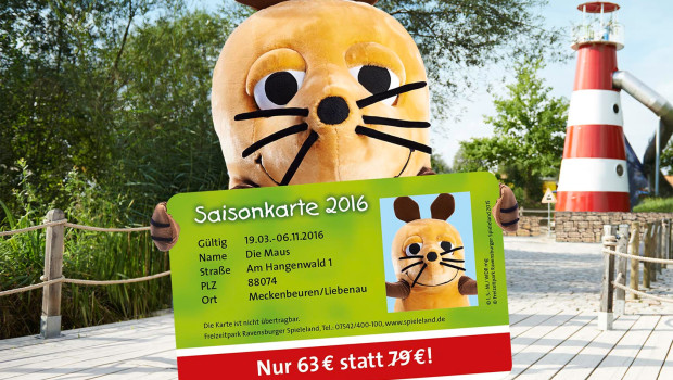 Ravensburger Spieleland - Saisonkarte 2016 Vorverkauf
