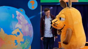 """Ralph Caspers im Ravensburger Spieleland:  """"Tag mit der Maus"""" 2015 beantwortete Fragen zum Herbst"""