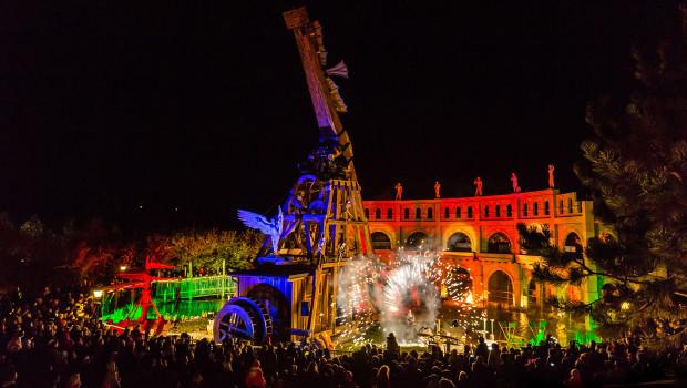 Leonardos Flugmaschine im Familypark Neusiedlersee an Halloween 2015