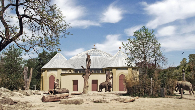 Tierpark Hellabrunn - Elefantenhaus - neue Kuppel - Grafik
