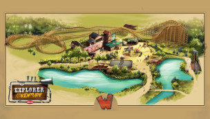Walibi Rhones-Alpes Explorer Adventure Artwork
