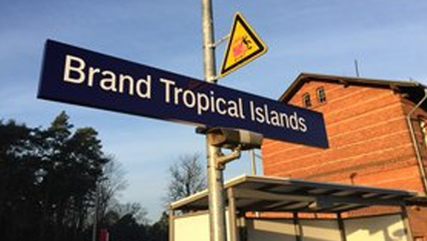 Bahnhof Brand Tropical Islands