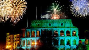 Europa-Park Feuerwerk über Colosseo