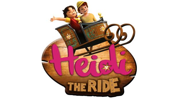 Heidi - The Ride, Logo der Plopsaland De Panne Holzachterbahn
