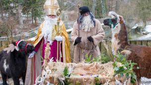 Tierpark Hellabrunn begrüßt Nikolaus und Krampus am 6. Dezember 2016