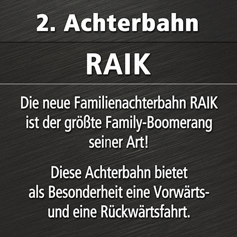 RAIK Family-Boomerang im Phantasialand - Ankuendigung