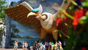 Vogel Rok in Efteling - Adler-Eingang