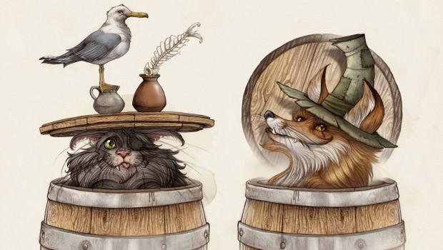 Efteling - Pinocchio Artwork - Kater und Fuchs