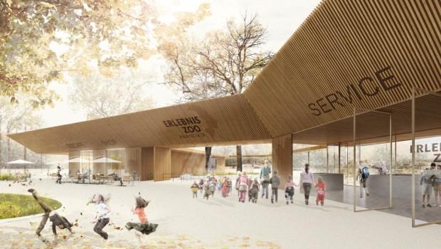 Erlebnis-Zoo Hannover - neuer Eingang - Konzeptgrafik
