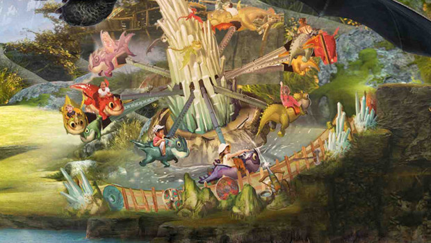 Heide Park Drachenzähmen-Drachenreiten - Artwork