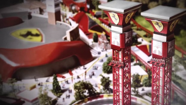Free-Fall-Tower von Ferrari Land in PortAventura