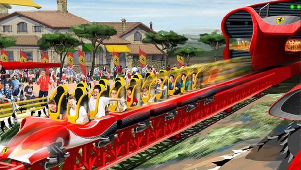 PortAventura Ferrari Land Launch Coaster Artwork
