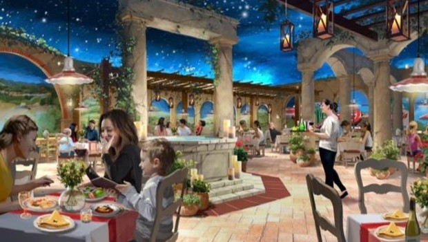 PortAventura Ferrari Land Restaurant Artwork