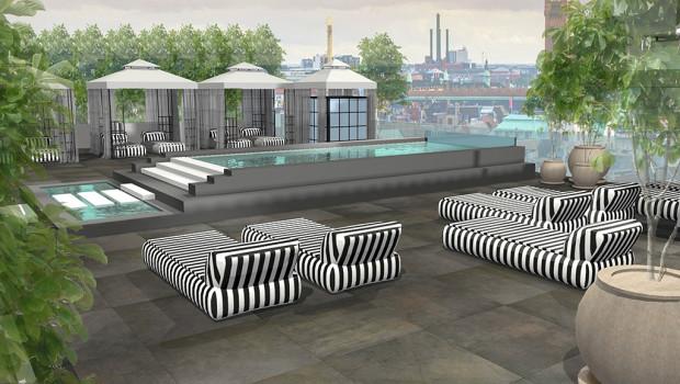 Tivoli Nimb Hotel mit Dachterrasse Konzept