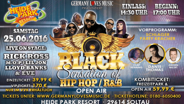 Black Sensation Heide Park 2016 Line-Up