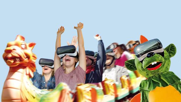 Dinolino's VR-Ride im Erlebnispark Schloss Thurn